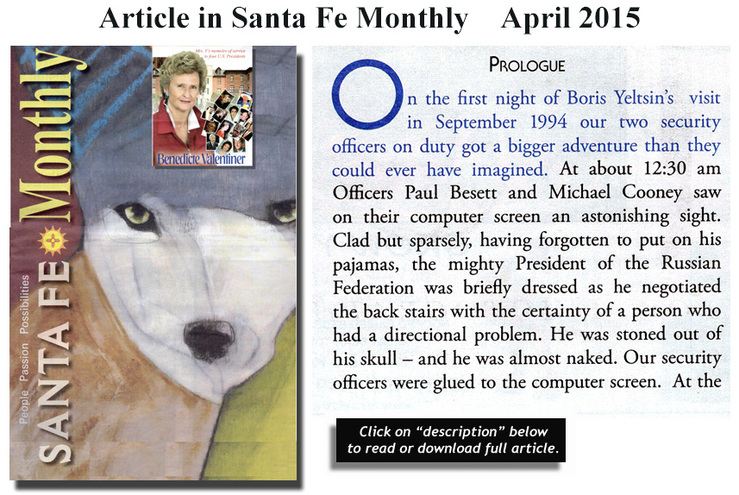 Santa Fe Monthly article - June 2015